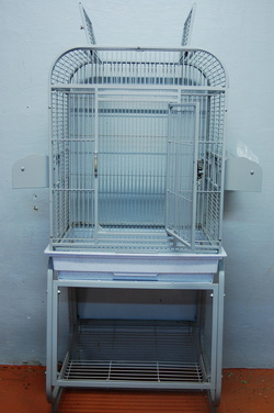 White metal Cage Open top