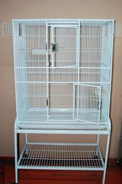Square Metal White Cage