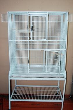 Square Metal White Cage